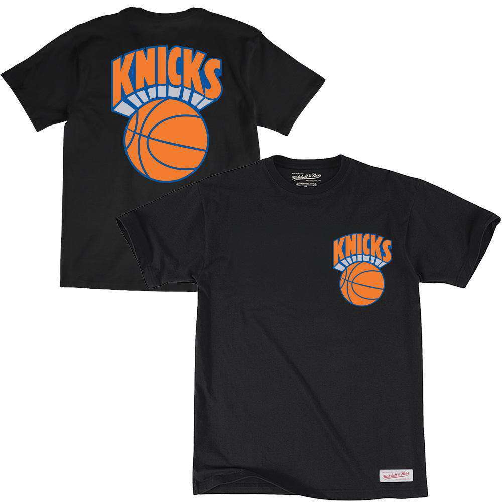 Black New York Knicks Mitchell /& Ness NBA Retro Repeat T-Shirt