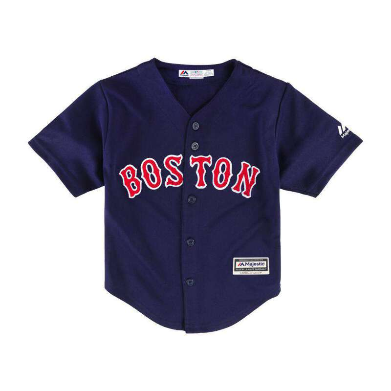 separation shoes 5b23c dc035 Details about Toddlers Boston Red Sox Majestic MLB Cool Base Replica Jersey  - Navy
