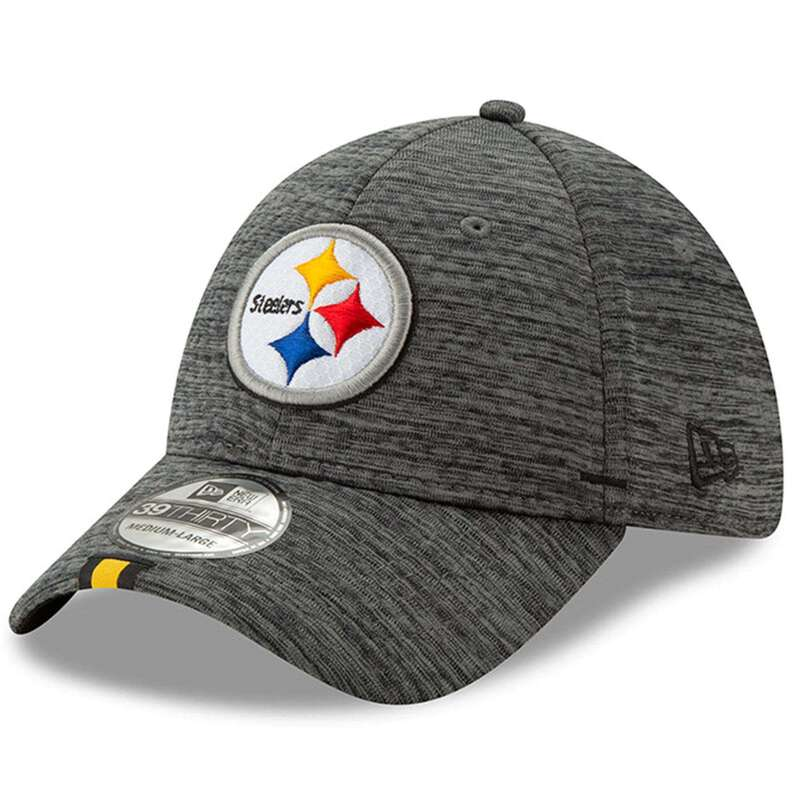 d2a0bac6 Pittsburgh Steelers New Era 2019 NFL Training Camp 39THIRTY Stretch-Fit Hat  - Graphite