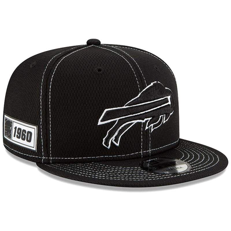205de928 Details about Buffalo Bills New Era NFL 2019 Sideline Road Black & White  9FIFTY Snapback Hat