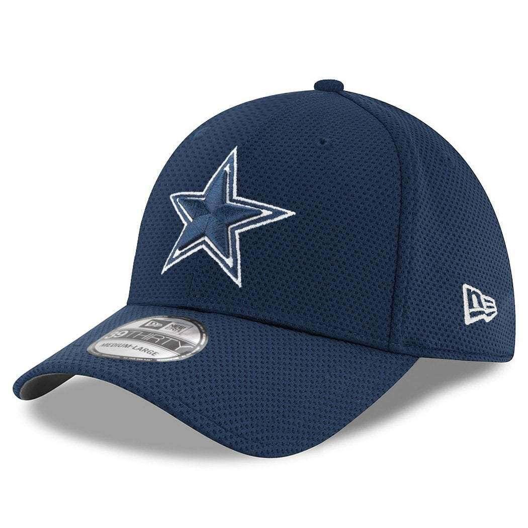 751566afb332b ... free shipping dallas cowboys new era nfl performance mesh 39thirty  stretch fit curve hat navy 90f34