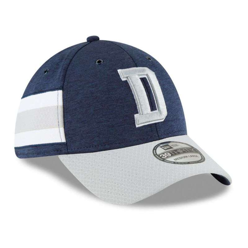 78de9d4b Details about Dallas Cowboys New Era NFL 2018 Sideline 39THIRTY Stretch-Fit  Curved Hat - Navy