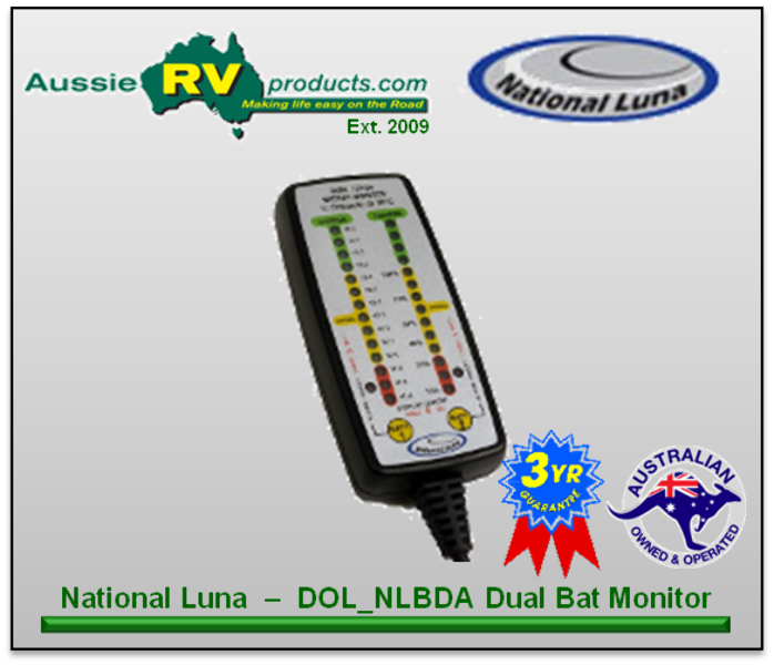 Rv Battery Monitoring Display : Australian rv and supplies dual battery monitor with
