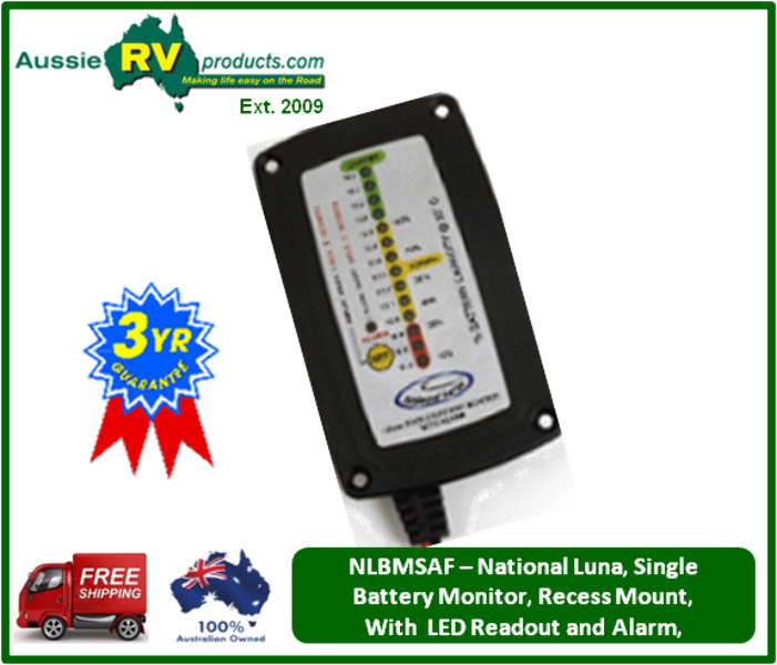 Rv Battery Monitoring Display : Australian rv and supplies national luna single