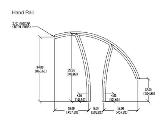 Artisan Hand Rail Dimensions
