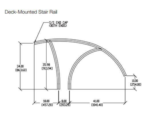 Artisan stair rail dimensions