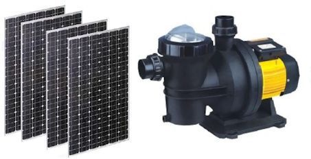 Solar powered pool pump with solar panels
