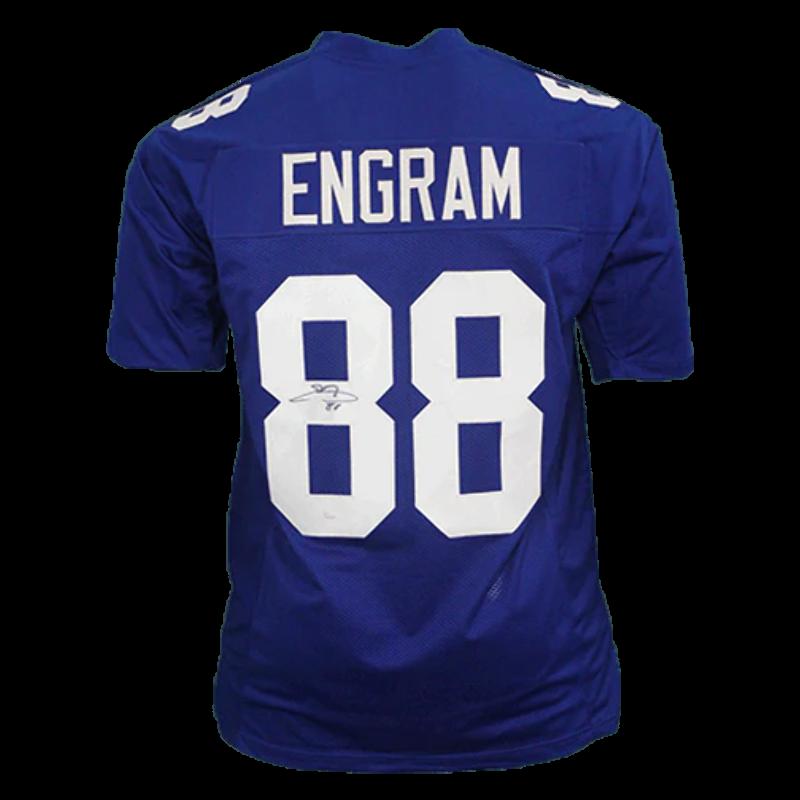 promo code cc446 b74a3 Details about Evan Engram Autographed pro style Football Jersey Blue (JSA  COA)