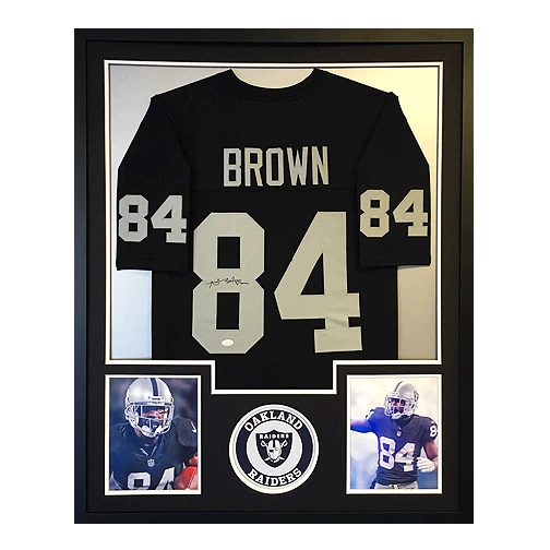Antonio Brown Oakland Raiders Signed Autograph Black Custom Jersey JSA Witnessed Certified