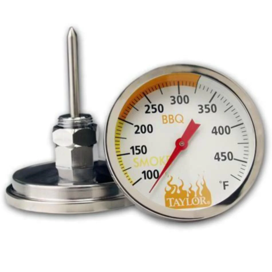 """BBQ Grill Members Mark Stainless Steel Temperature Gauge 1 7//8/"""" Probe Mounted"""