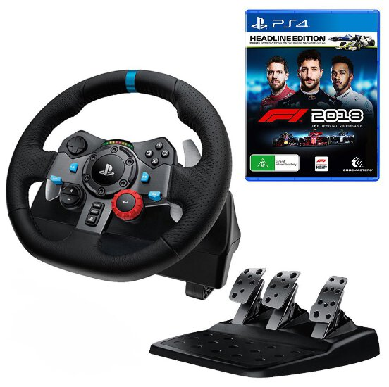 Details about Logitech G29 Driving Force Racing Wheel with F1 2018 Headline  Edition Bundle NEW