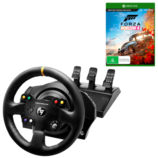 Details about Thrustmaster TX Racing Wheel Leather Edition with T3PA Pedals  & Forza Horizon 4
