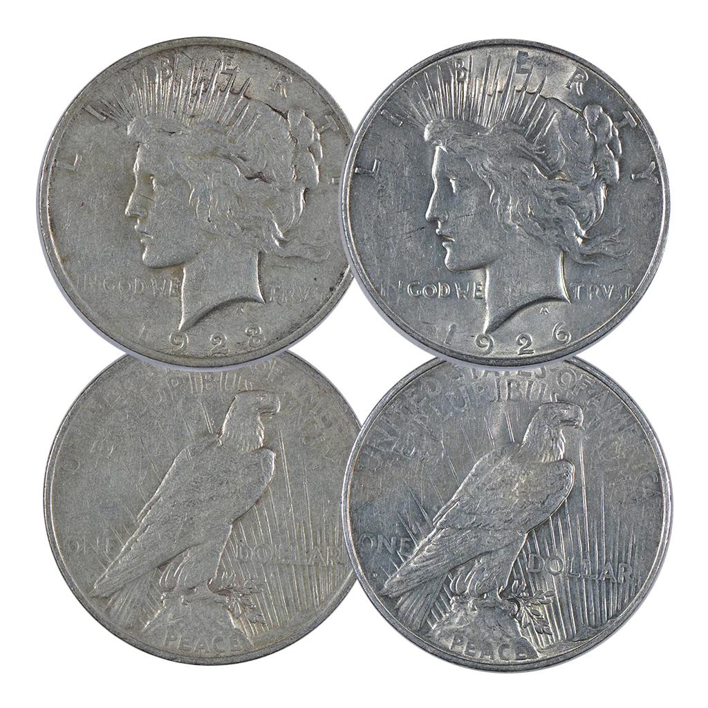 1922-1926 PEACE SILVER DOLLAR VERY GOOD EXTRA FINE 90/% COIN!