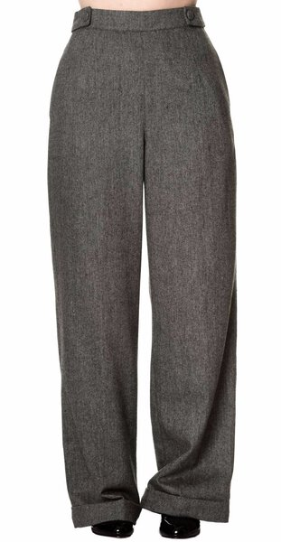 200d6b4e Details about Banned 40s Lindy Jive Lady Luck Black Herringbone Swing  Trousers