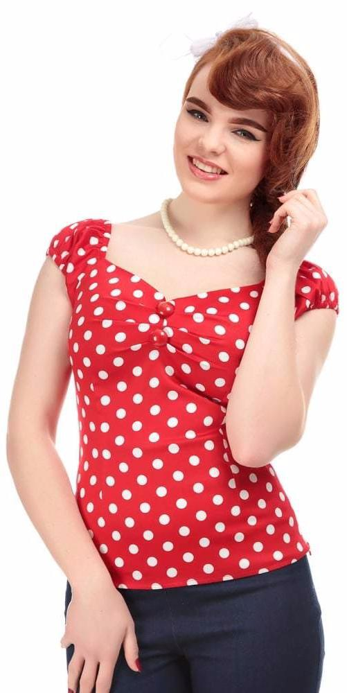 Collectif Dolores 1950s Vintage Style White Gypsy Top