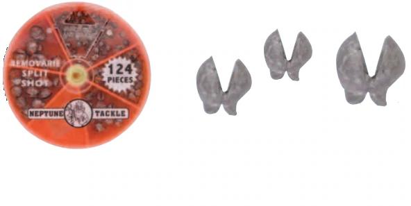 INSO Round Split Shots 100pcs Round Split Shot Sinker Removable Fishing Weight Sinkers 0.5g Per Piece