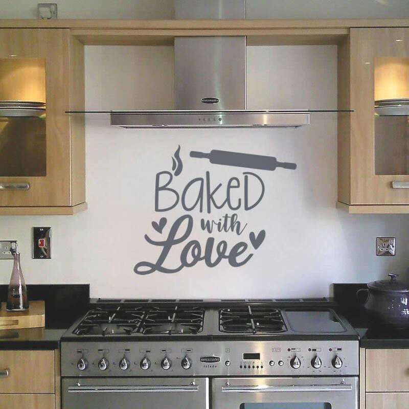 Dettagli su Cucina al forno con amore Wall Stickers- mostra il titolo  originale