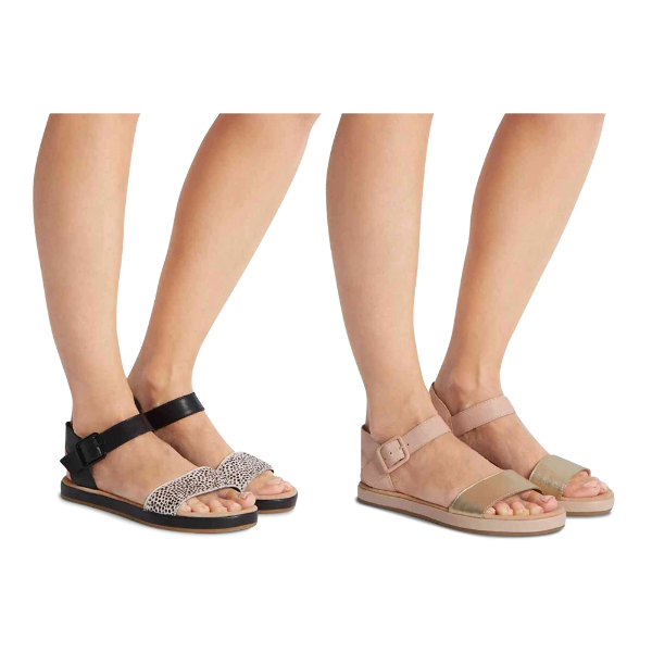 4def54815ec Details about Ex Marks & Spencer M&S COLLECTION T022970 Leather Two Band  Sandals RRP £45