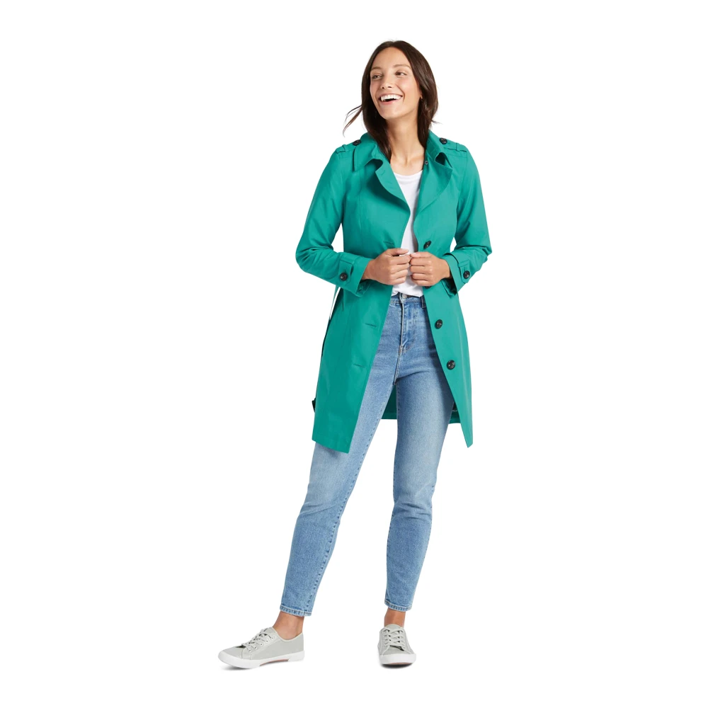 Ex Marks /& Spencer THE EVERYWEAR MAC T493200 Trench Jade Coat RRP £45