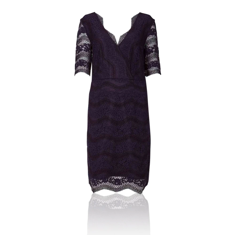 d0d681a6 Details about Marks & Spencer T429206 M&S Collection Lace Half Sleeve  Bodycon Dress RRP £65