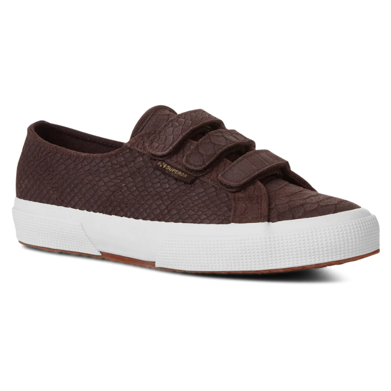 100% genuine exclusive shoes fresh styles Superga 2750 S00CJ80 Suede Anaconda Strap Women Classic Brown ...