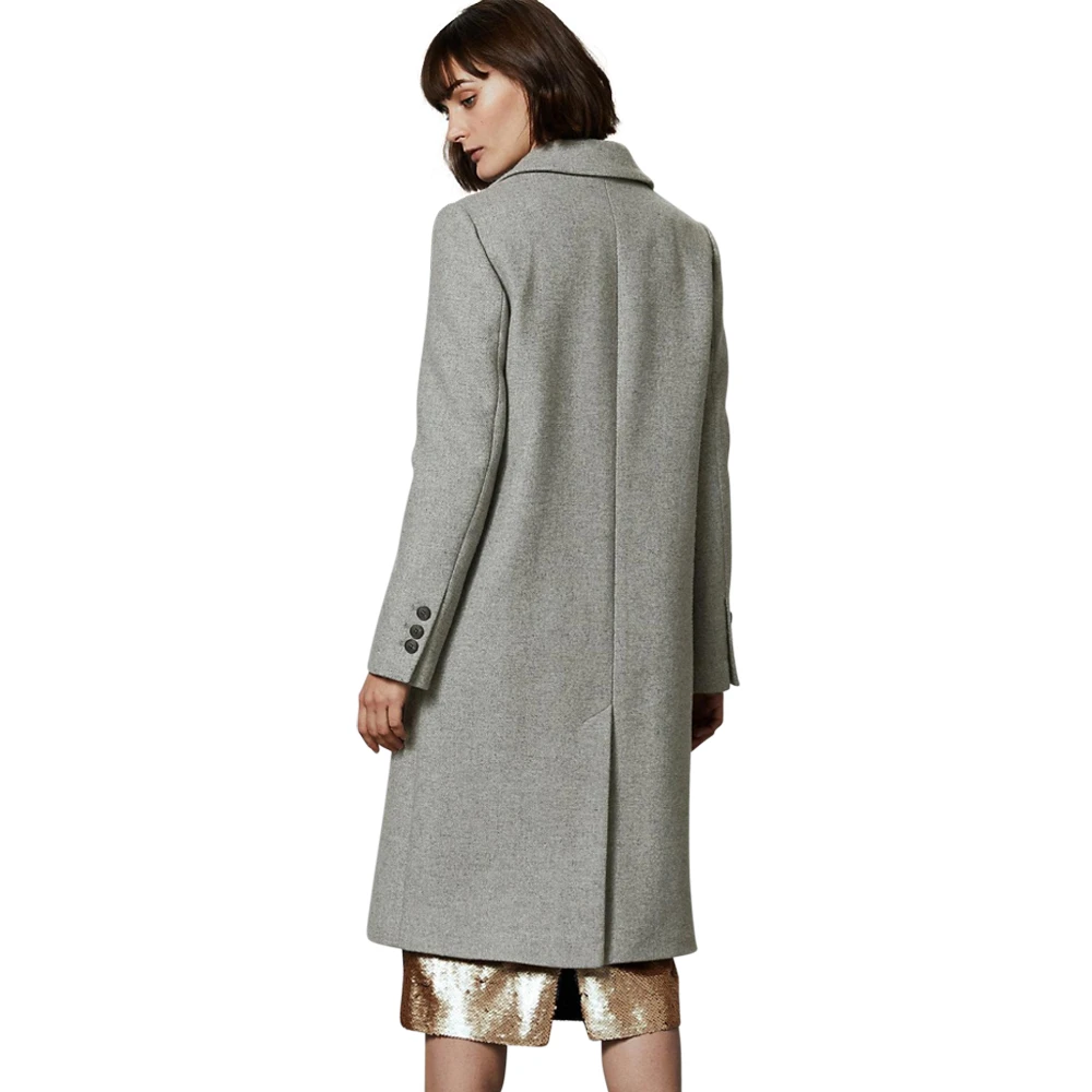 BNWT M/&S Coat Size 16 Cost £89 Black And khaki With Wool