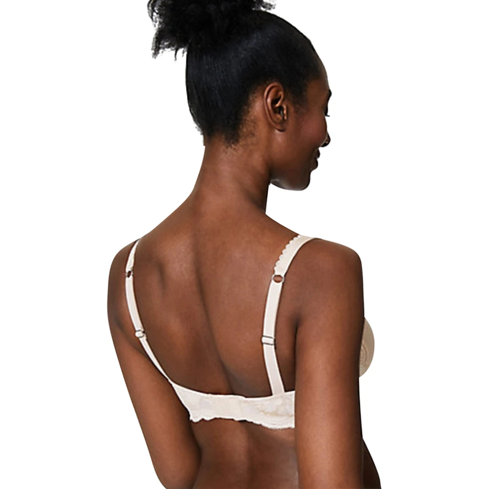 M/&S Perfect Fit Memory Foam Full Cup T Shirt Bra NUDE Size 42C