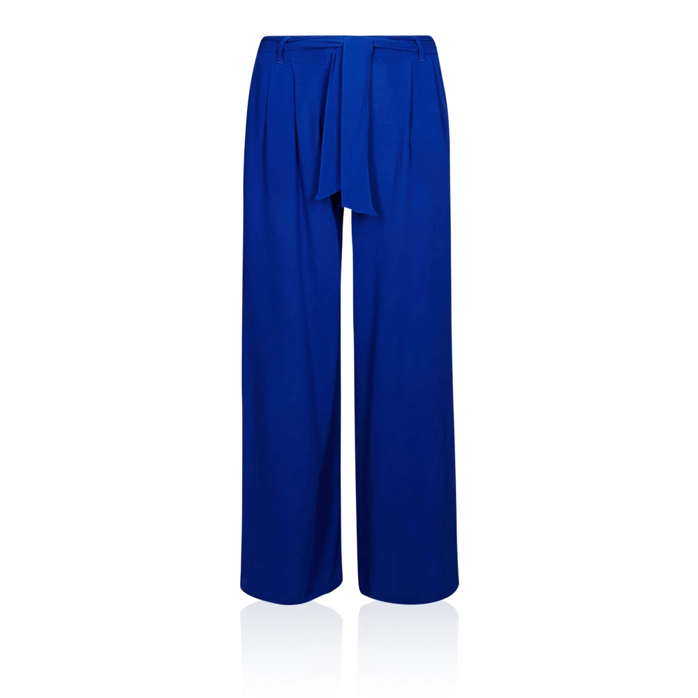 ex M/&S Marks /& Spencer Pleated Palazzo Wide Leg Cobalt Blue Trousers