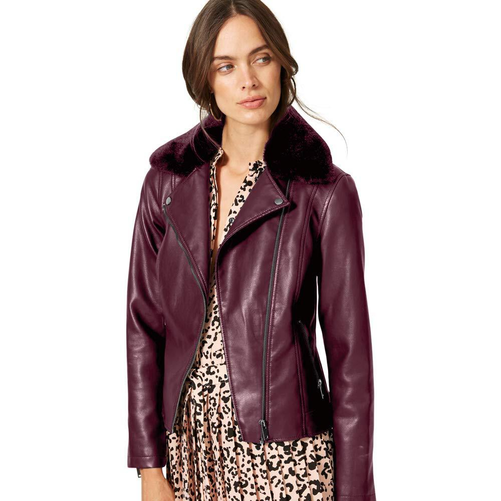 Marks /& Spencer T494305 M/&S Collection Faux Leather Biker Jacket RRP £49.50