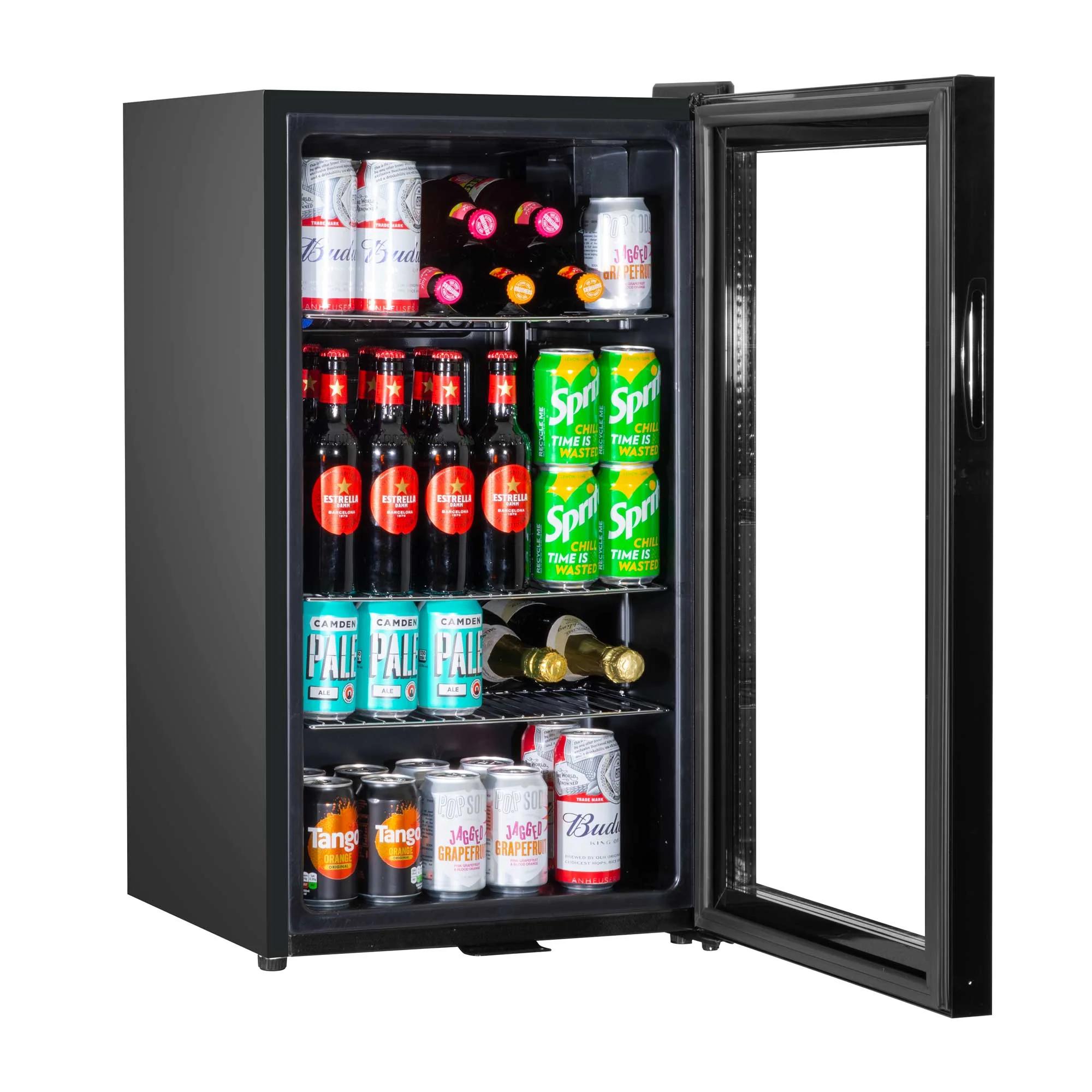 A+ Baridi 80L Wine Beer Drinks Fridge Cooler Thermostat Lock /& Key LED Light