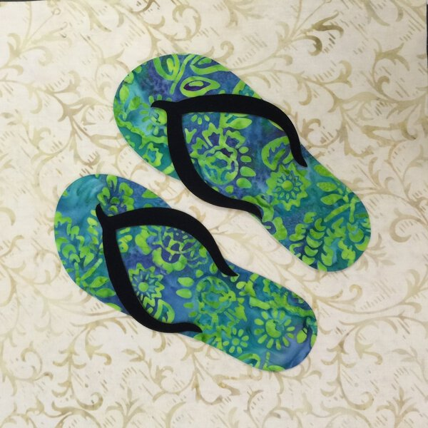 1df0b654ad385 Pair of Flips Flops - Laser Cut Applique Shapes - Variety of Colors ...