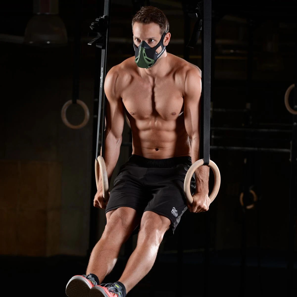 PHANTOM TRAININGSMASKE COVERAusdauer Kondition Training FitnessSILBER
