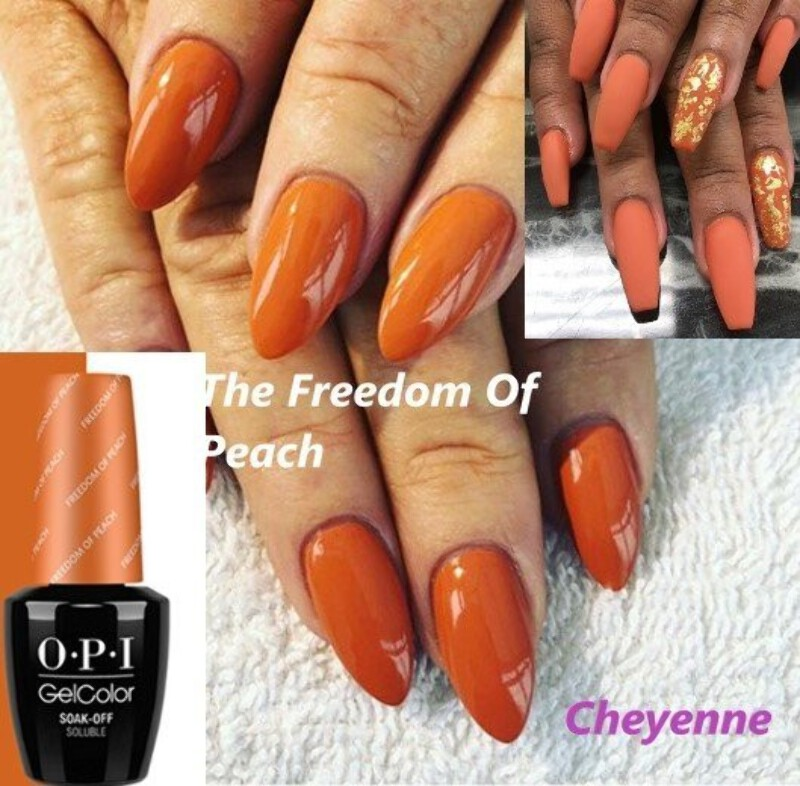 Details about FREEDOM OF PEACH OPI Gel Color UV LED Nail Polish GelColour