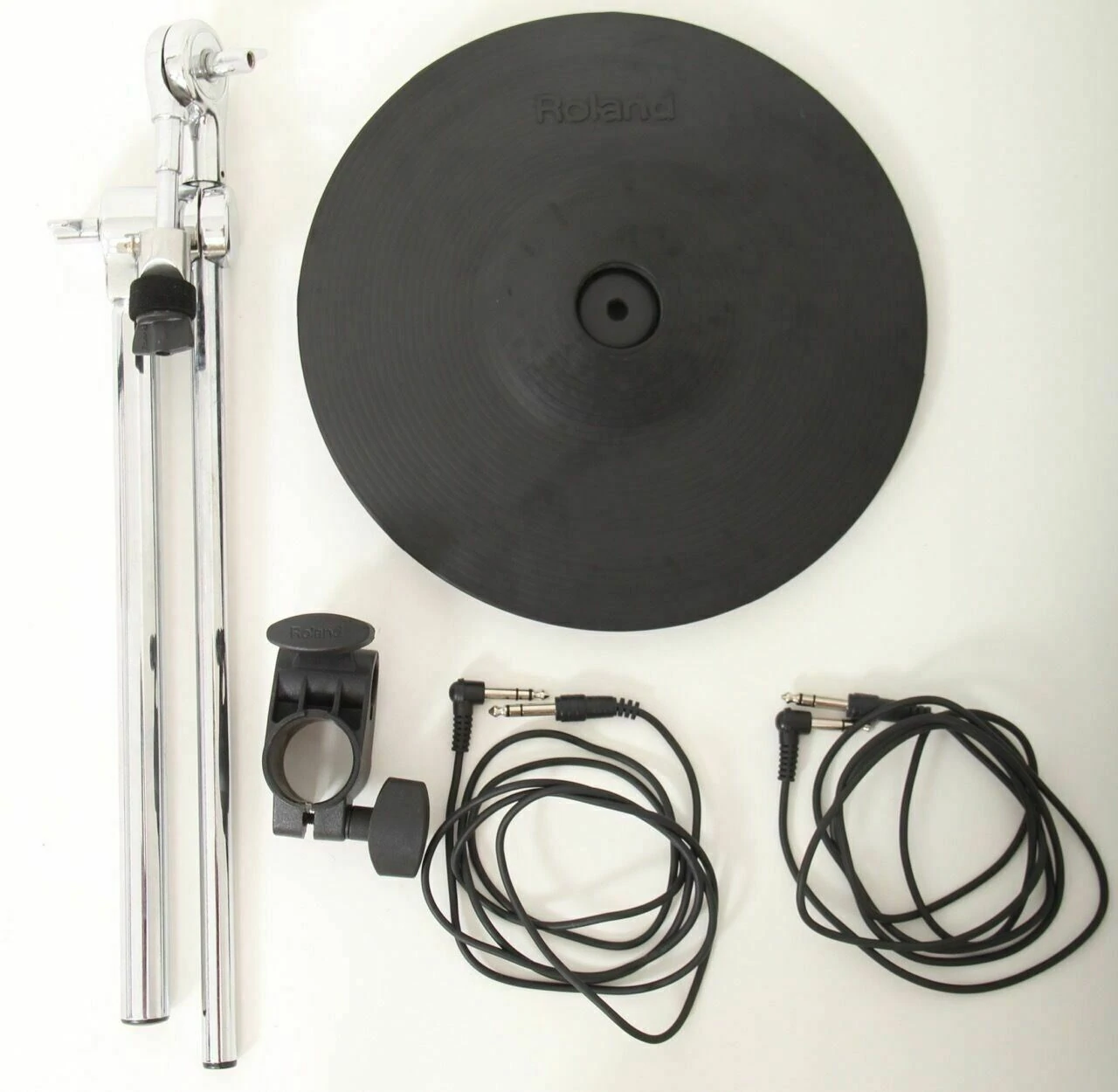 "Roland CY-12R//C 12/"" Electronic 3 Zone Ride//Crash Cymbal BOOM /& CLAMP /& LEADS"