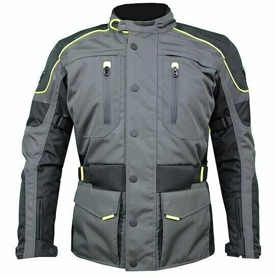 Motorcycle Jacket Prexport Monaco Black/Gun / Yellow   eBay