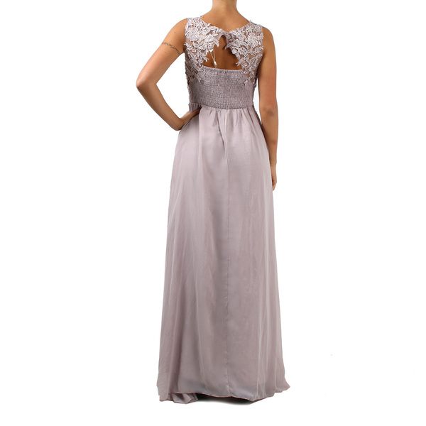 DADA - Vestito elegante lungo da donna con corpetto decorato - Beige ... e45f0b906be