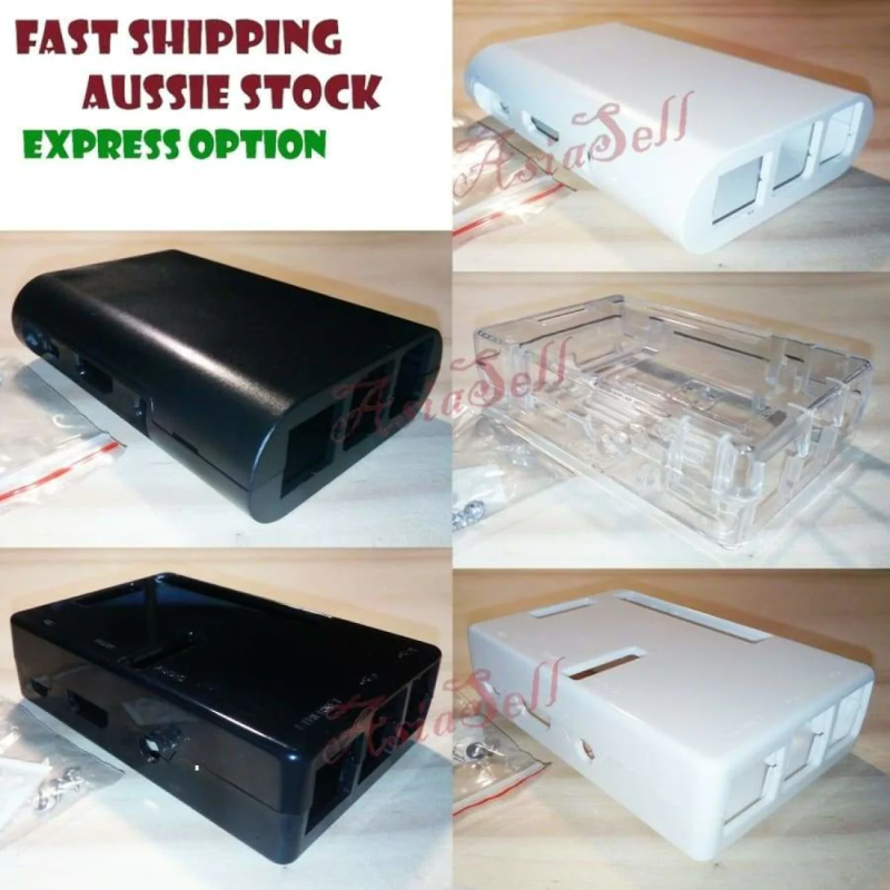 Details about Raspberry Pi 3, 2, B+ Case Official ABS Enclosure Pi Box  Shell Quality Firm Fit