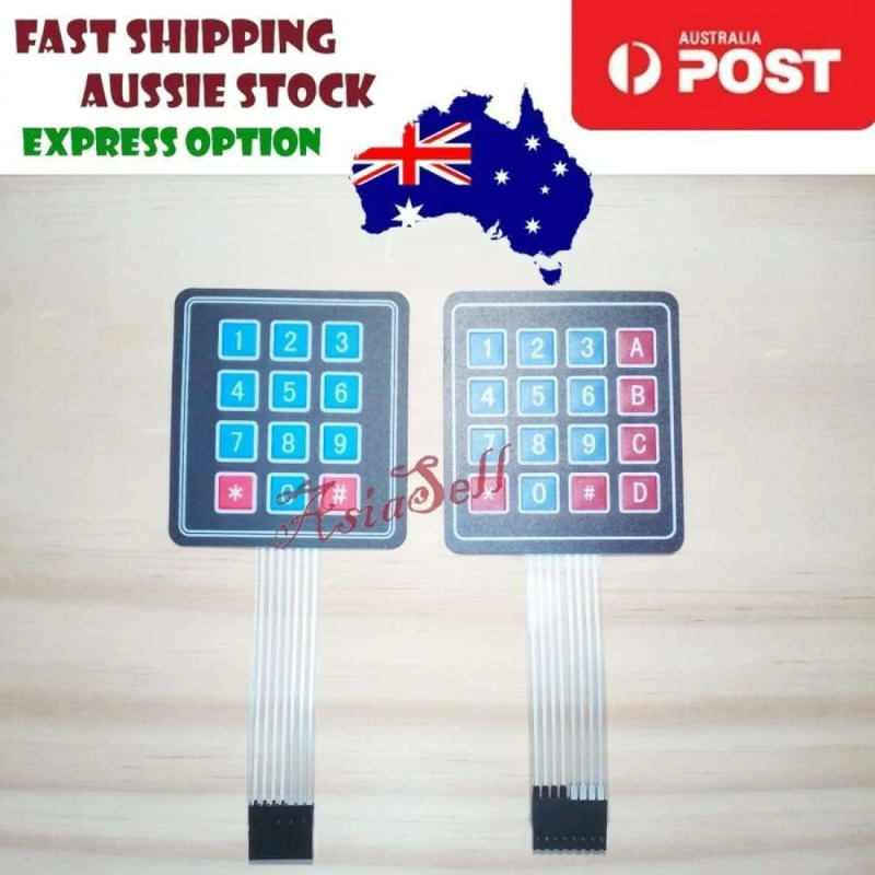 5PCS 1x4 Matrix Array 4 Key Membrane Switch Keypad Keyboard 4 Keys P1