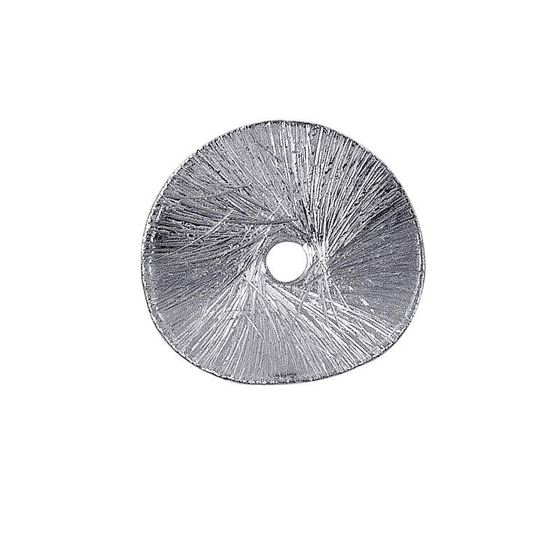 Silver Overlay Round Shape Chip Bead BSF-218-14MM