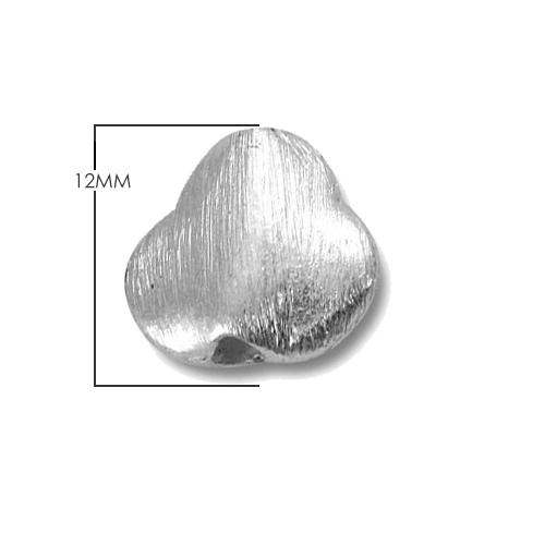 Silver Overlay Tyre Shape Brushed Bead BSF-364