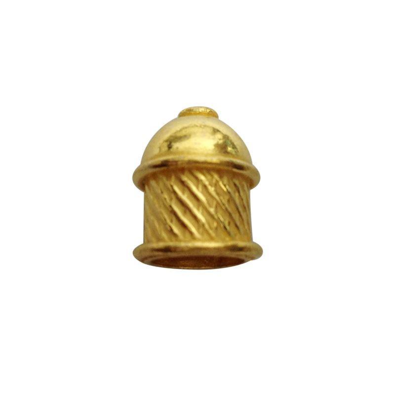 18K Gold Overlay End Cap-CG-209