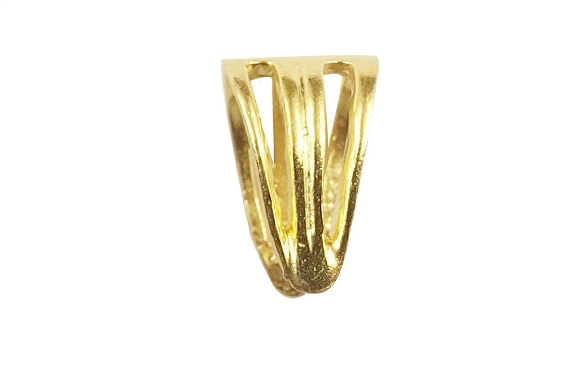18K Gold Overlay Pendant Bail CG-303-14X4MM