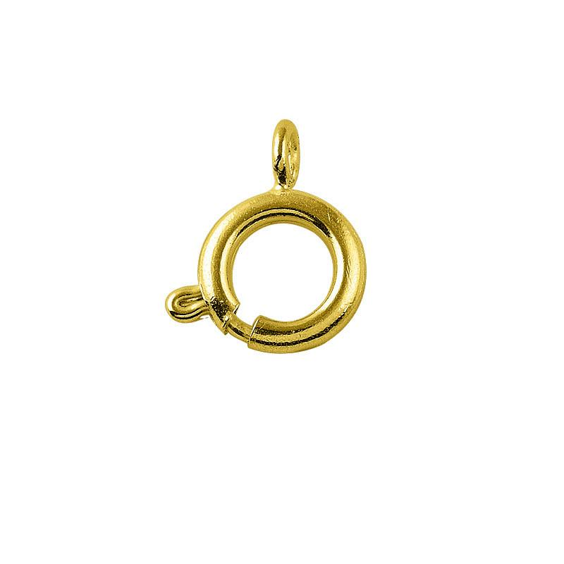 18K Gold Overlay Round Split Ring FG-132-6MM