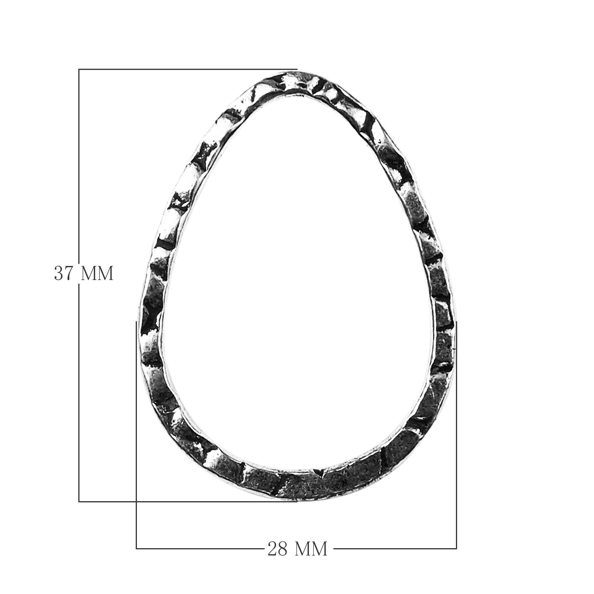 Silver Overlay Chandelier Earring Finding Pear Shape FSF-152