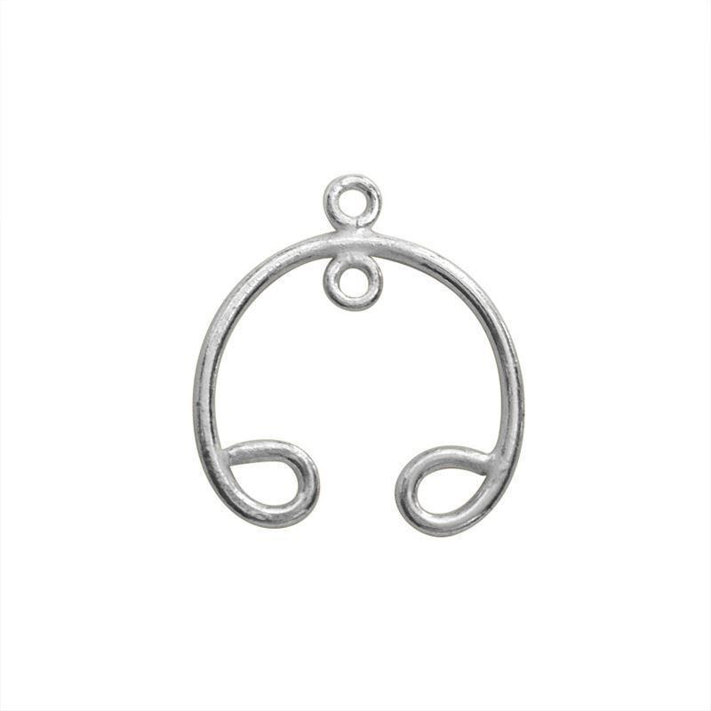 Silver Overlay Chandelier Earring Finding 22X18MM