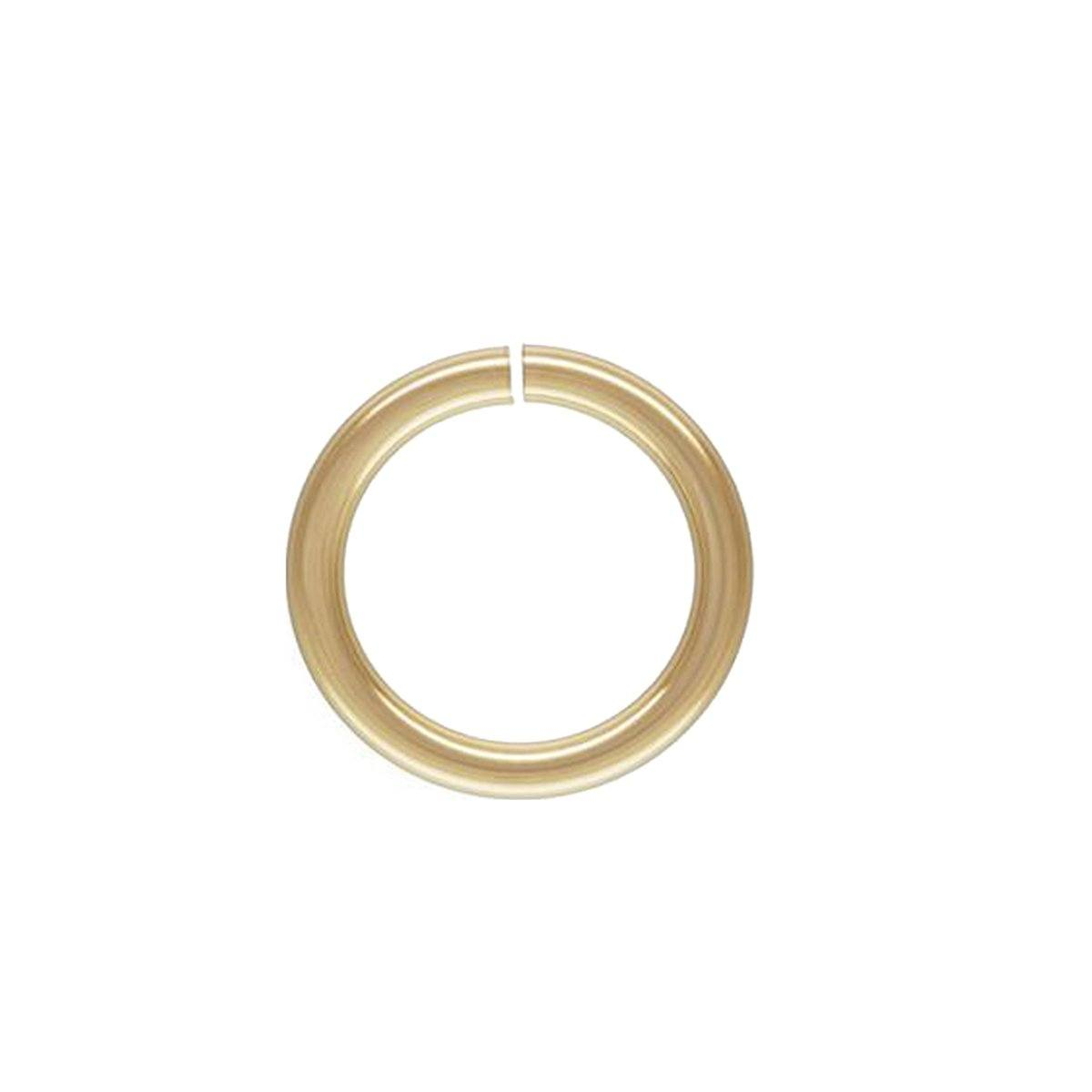 18K Gold Overlay Twisted Jump Ring Open JOG-102-6MM