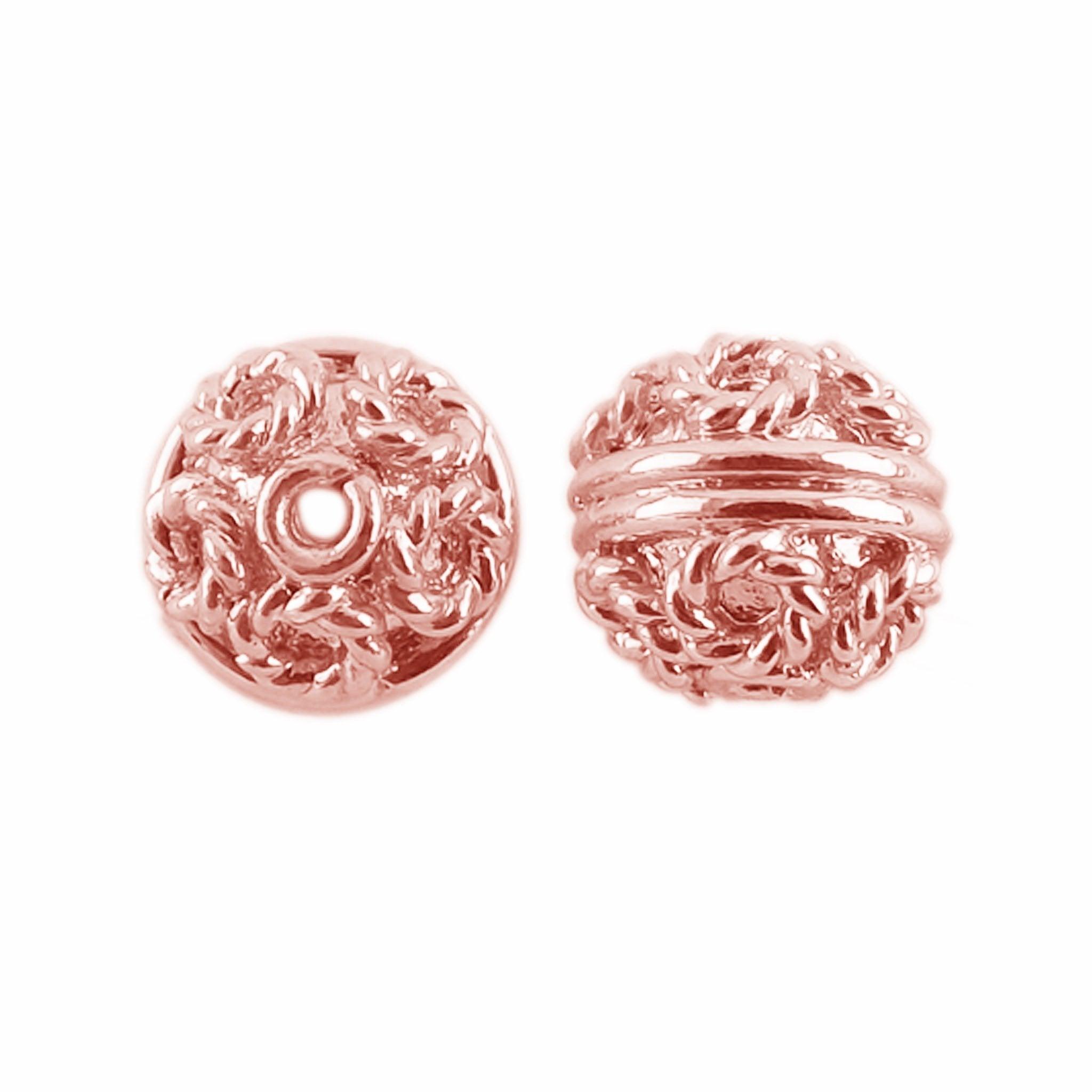 10 Perles Métal-Antique Argent-Ø 4,5 mm Bracelet Fabrication