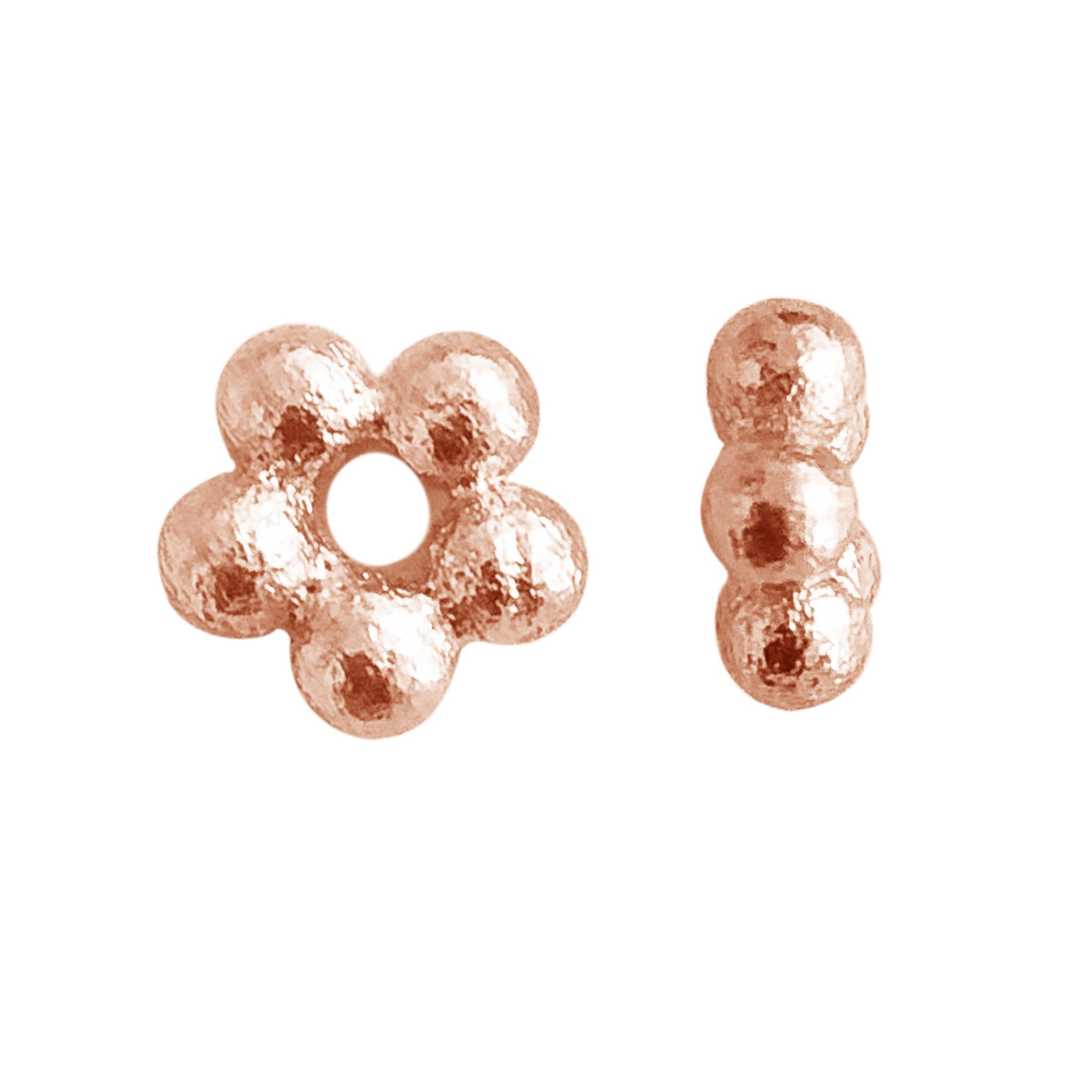 150 pcs Antiqued gold dotted spacers 3.5mm hole FC1104