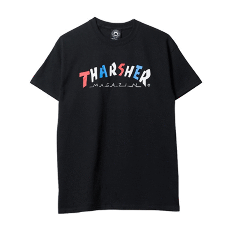 afc768450bcd Thrasher Skateboard Magazine - Knock Off T-Shirt - Black