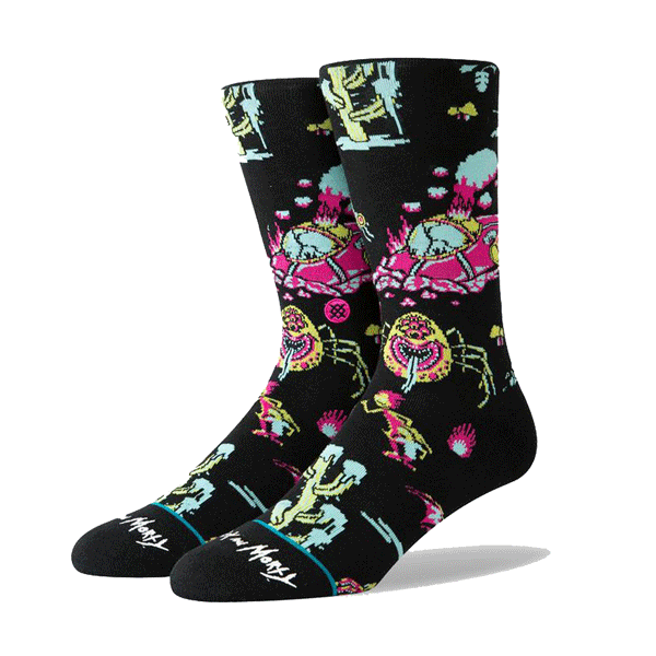 Stance x Rick And Morty Mr Meeseeks Socks Large Men/'s 9-13 Cartoon
